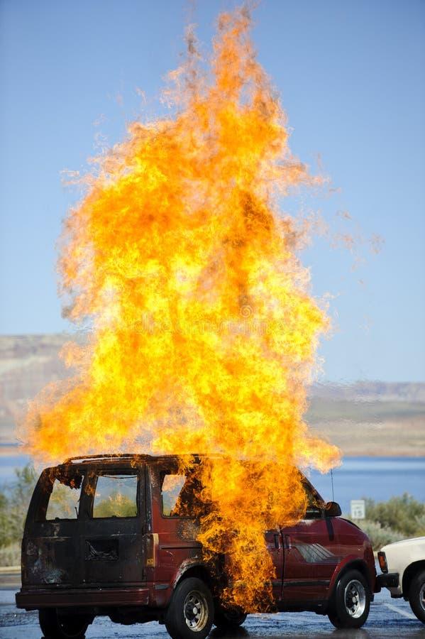 Incendie de véhicule images stock