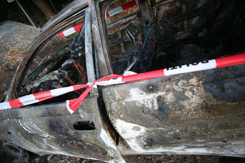 Incendie de véhicule photographie stock