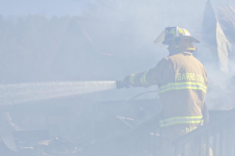 Incendie de Williamstown Vermontn images libres de droits