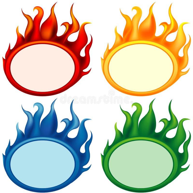 Incendie-drapeaux illustration stock