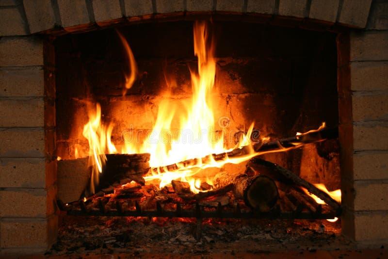 Incendie en cheminée photo stock