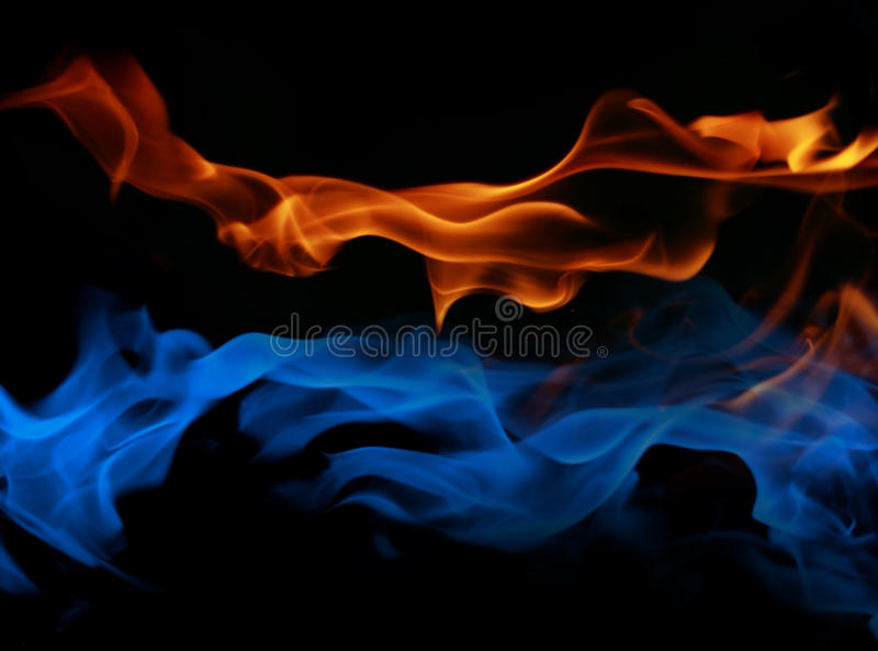 Incendie et glace photographie stock