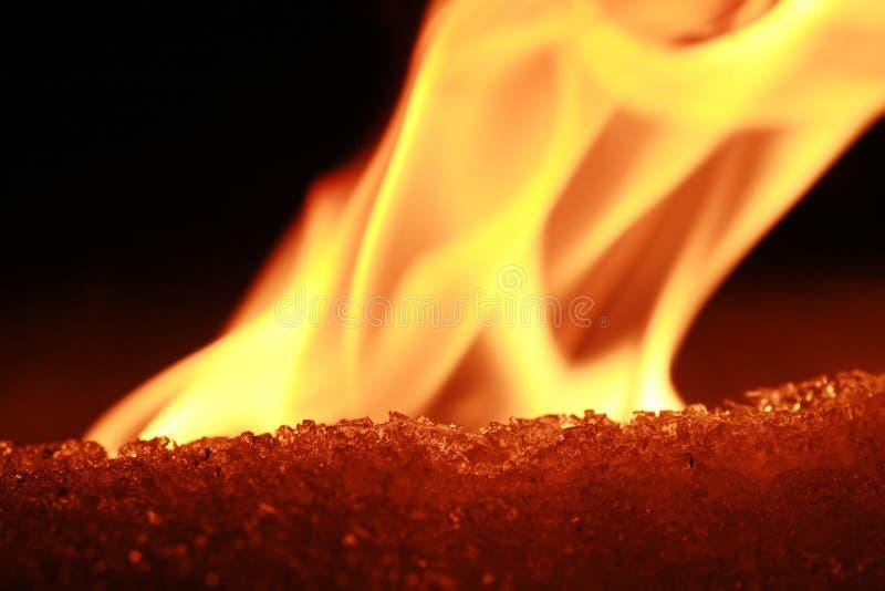 Incendie et glace image libre de droits