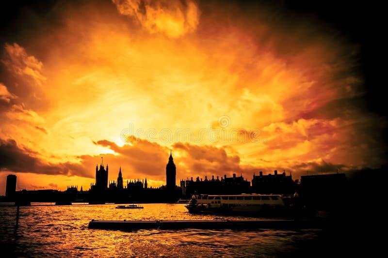 Incendie grand de Londres image libre de droits