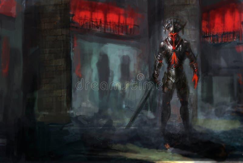 Incendie revenant illustration stock