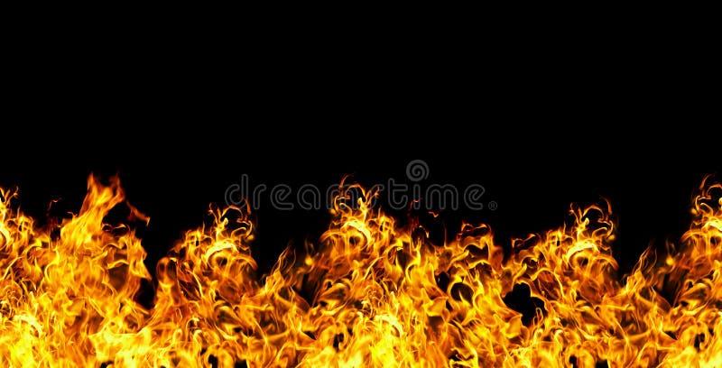 Incendie sans joint sur un fond noir photo stock