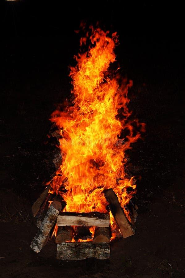 Incendie sauvage de barbecue photos stock