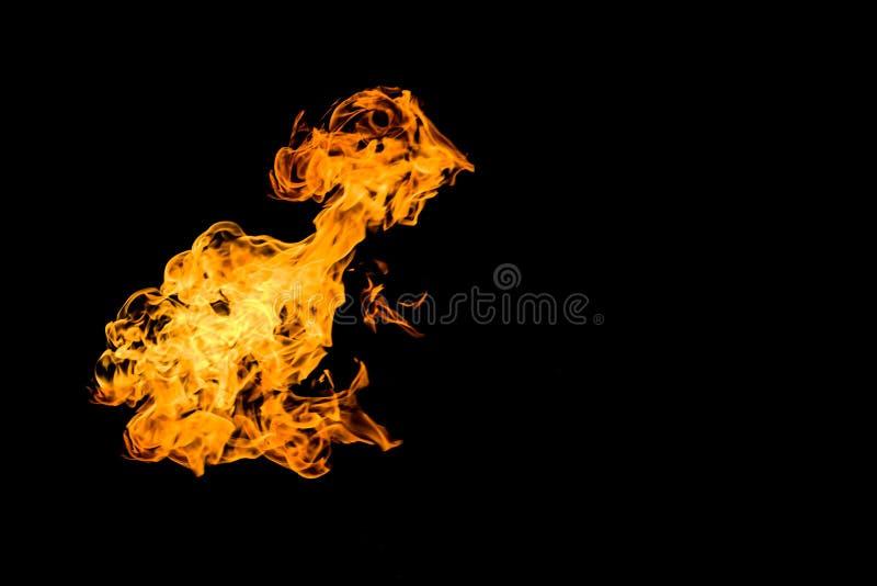 Incendie sur le fond noir Mod?les ardents Flamme br?lante Incendie de flambage illustration libre de droits