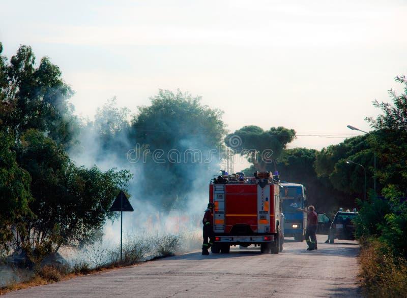 Incendies en Toscane, Italie image stock