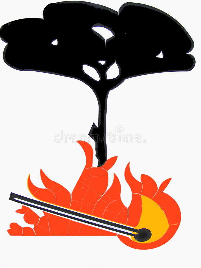 Incendio forestal libre illustration