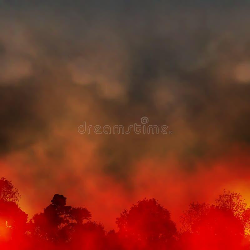 Incendio forestale illustrazione di stock