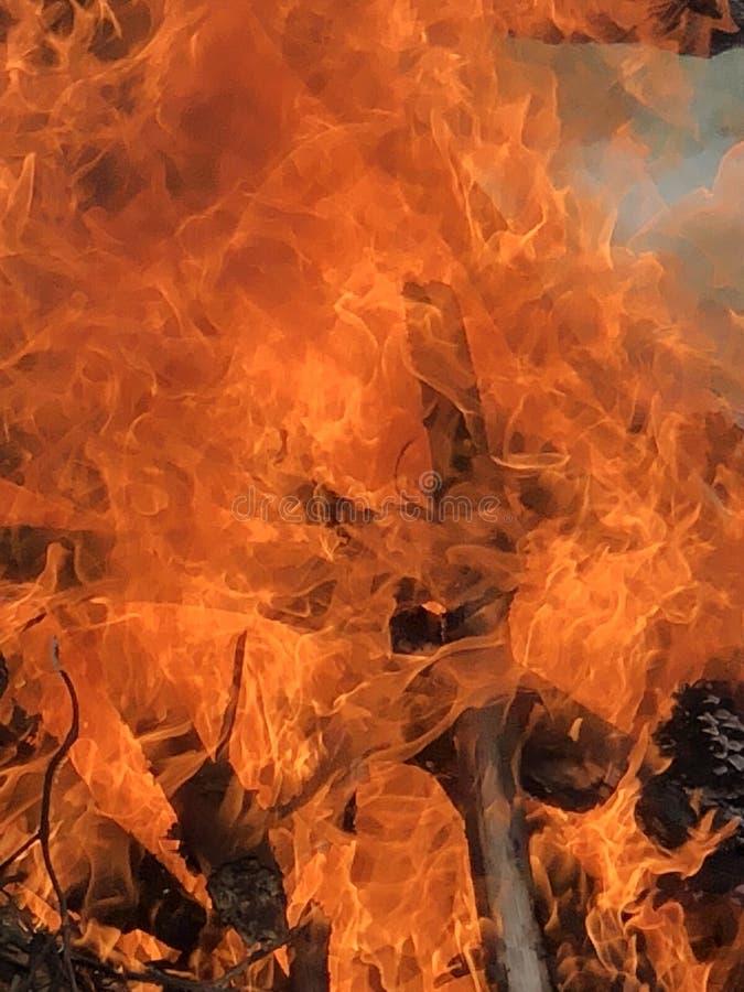 Incendio violento immagini stock