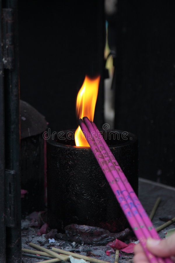 Download Incense In A Buddhist Temple Stock Image - Image: 7190431