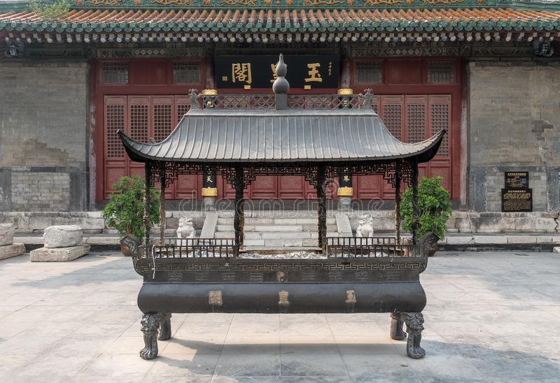 Incense burner of Yuhuang Pavilion in Tianjin royalty free stock photos