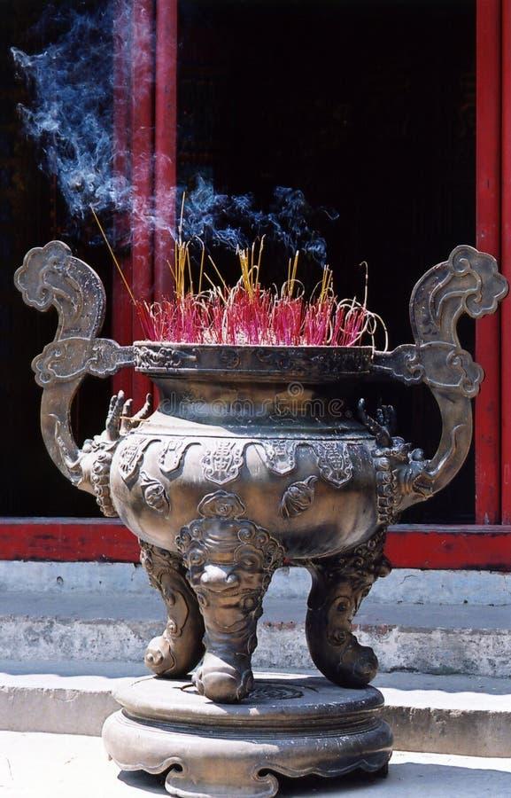 Incense burning royalty free stock photography