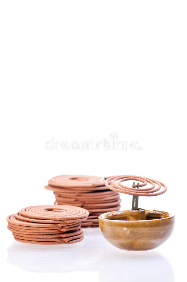 Incense Coil Burning Royalty Free Stock Images