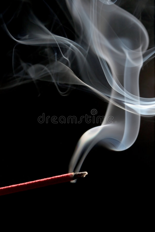 Free Incense Over Black Royalty Free Stock Photos - 377018
