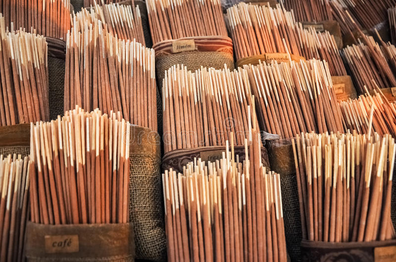 Incense for Sale. Various flavors of incense for sale stock images