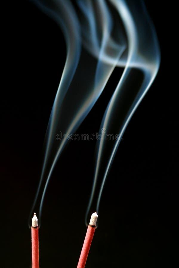 Incense smoke stock images