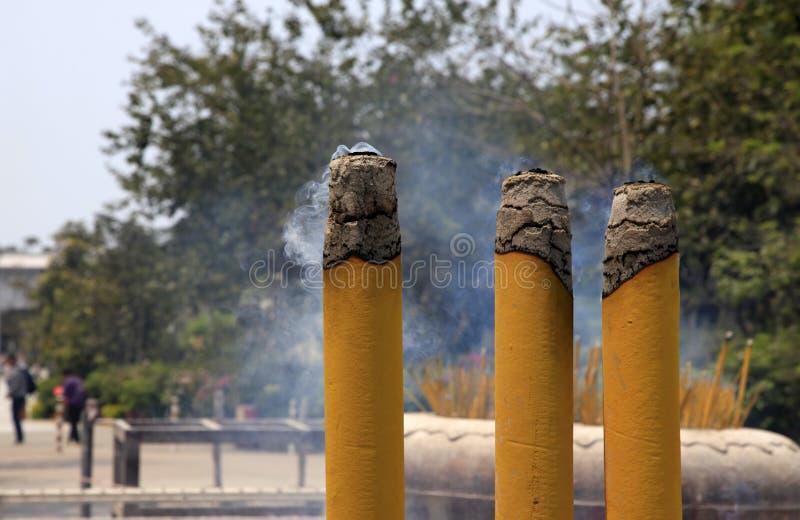 Incense Smoke Royalty Free Stock Photo