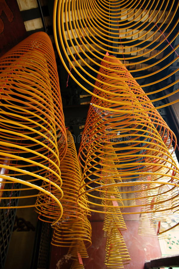 Download Incense Spirals, Kun Iam Temple, Macau. Stock Image - Image: 14476015