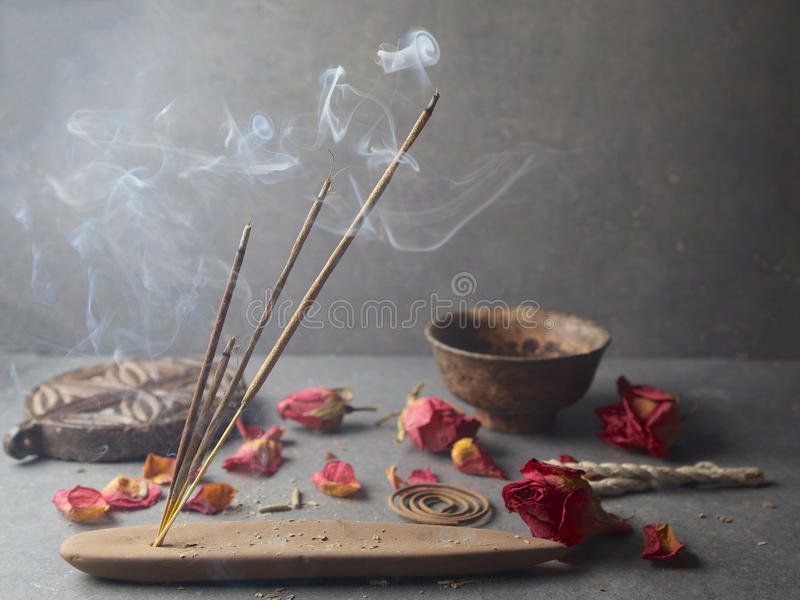 Incense stick. Aromatherapy stock image