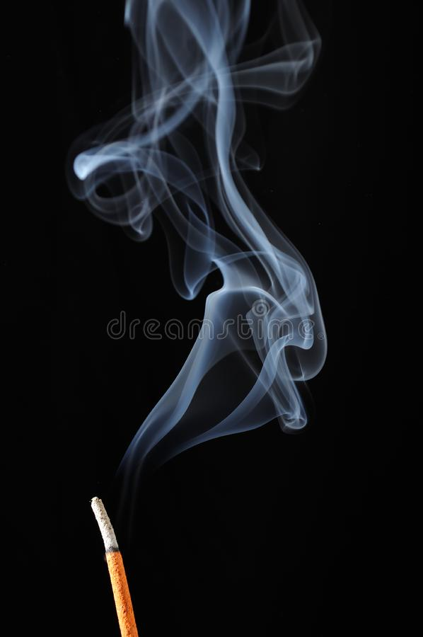 Incense Stick with Smoke royalty free stock photography
