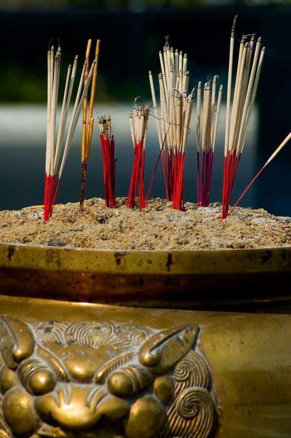 Incense sticks stock photos