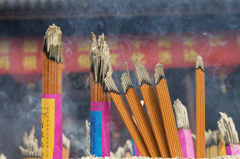 Incense sticks. At a temple in shanghai china royalty free stock photos
