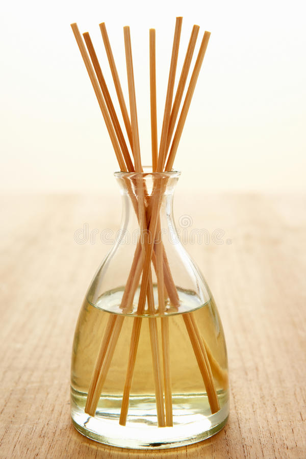 Incense sticks in carafe. Of water royalty free stock images