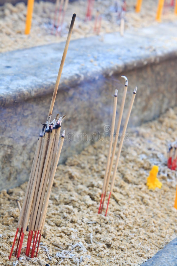 Incense for worship spirituality time stock photos