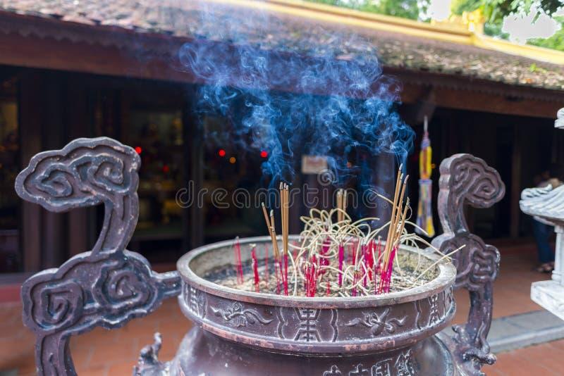 Incensory at tran quoc pagoda royalty free stock image