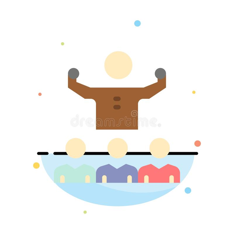 Incentive, crescimento, mentor, Mentorship, molde de Team Abstract Flat Color Icon ilustração royalty free