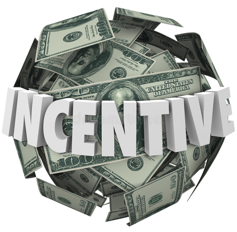 Incentive Word Money Ball Encouragement Buy Sell More vector illustration