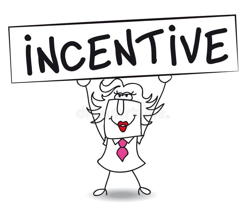 Incentivo con Penélope stock de ilustración