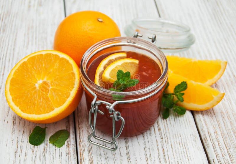 Inceppamento arancio delizioso fotografia stock libera da diritti
