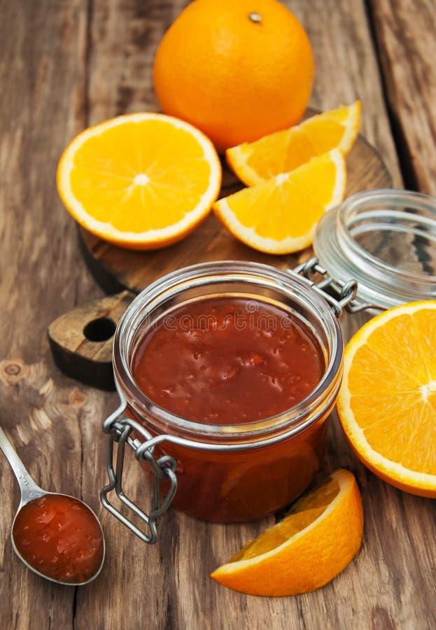 Inceppamento arancio delizioso fotografie stock libere da diritti