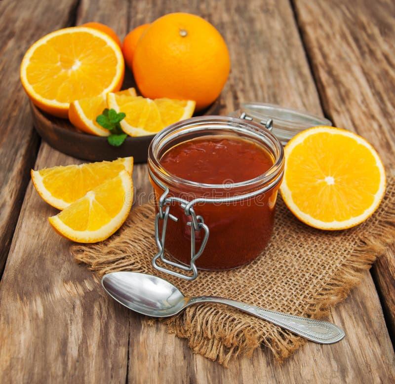 Inceppamento arancio delizioso fotografie stock