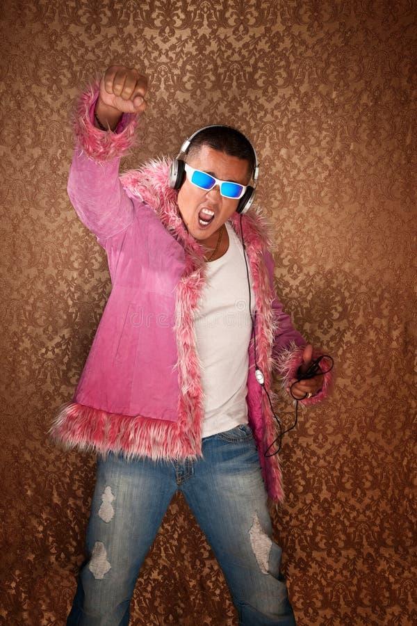 Inceppandosi nel colore rosa fotografia stock