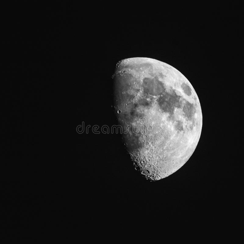 Inceratura della luna Gibbous fotografie stock