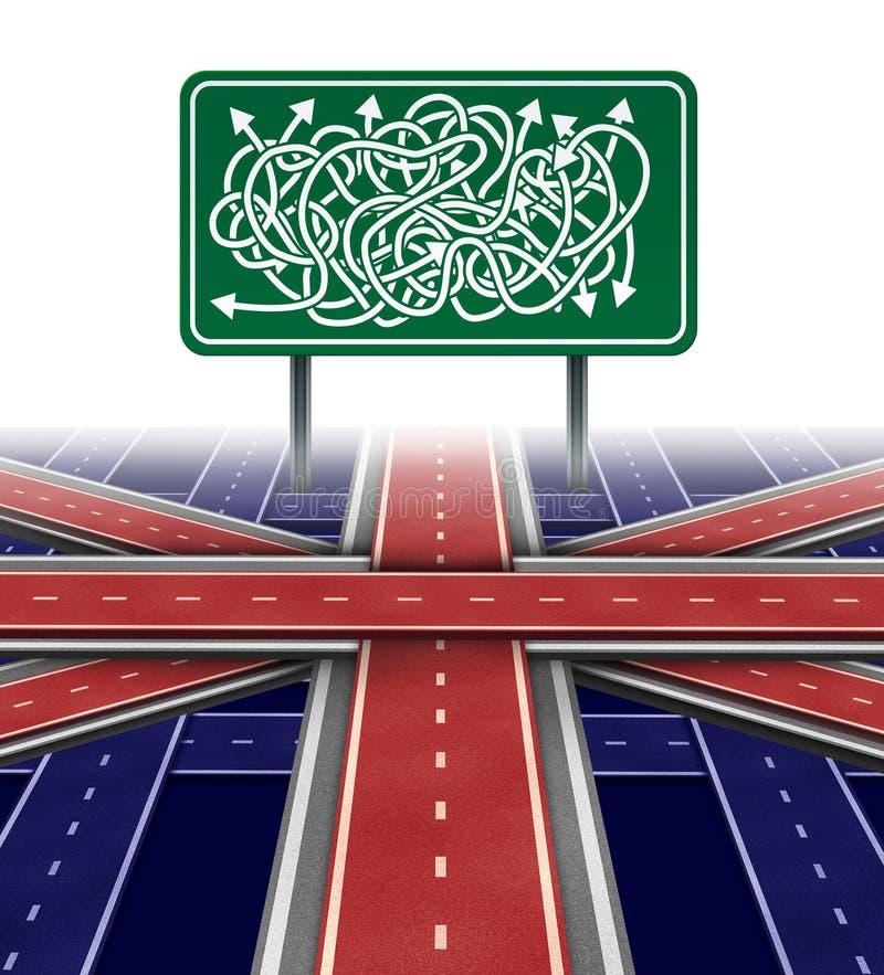 Incerteza política de Reino Unido ilustração do vetor