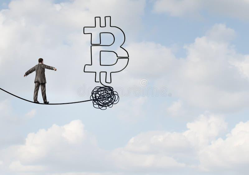 Incertezza di Bitcoin royalty illustrazione gratis