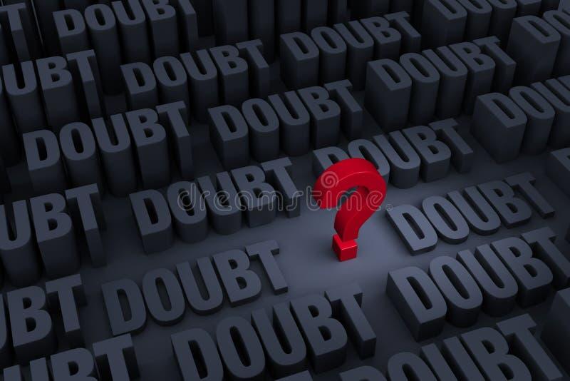 Incertidumbre y duda libre illustration