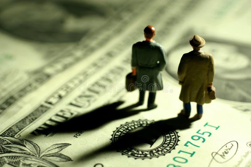 Incertidumbres financieras foto de archivo libre de regalías