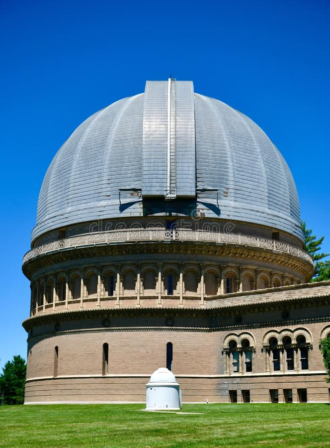40 Inch Dome. This is a Summer picture of the 40 Inch Dome at Yerkes Observatory located in Williams Bay, Wisconsin in Walworth County. This is a 90 foot dome royalty free stock images
