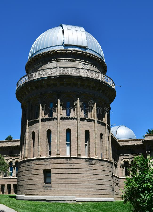 41 Inch Dome. This is a Summer picture of the 41 Inch Dome at Yerkes Observatory located in Williams Bay, Wisconsin in Walworth County. This is a smaller dome royalty free stock image