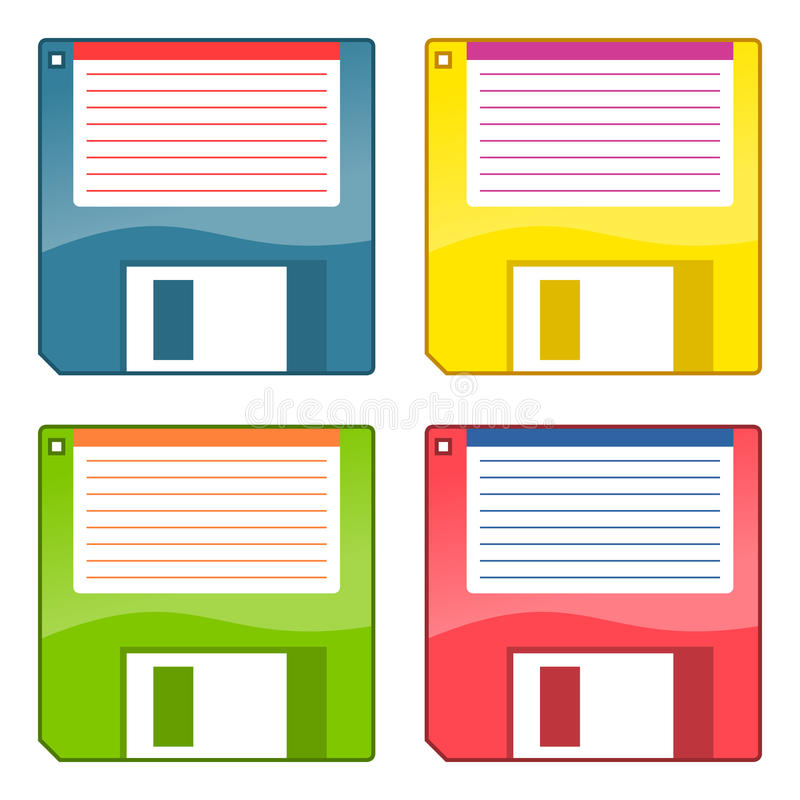 Download 3.5 Inch Floppy Disks stock vector. Image of illustration - 30434825