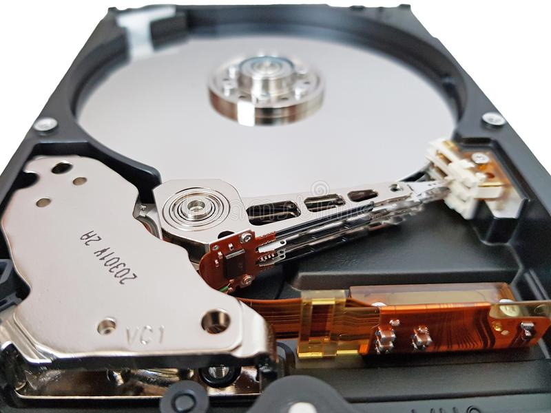 3.5 inch Hard Drive without cover stock image