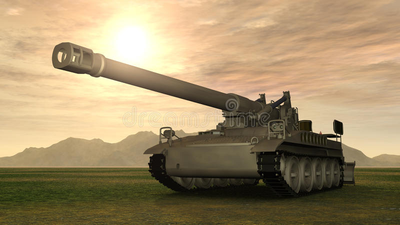 8 inch Howitzer of the Cold War vector illustration