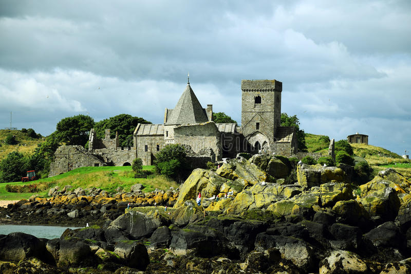 Inchcolm abbotskloster arkivbild
